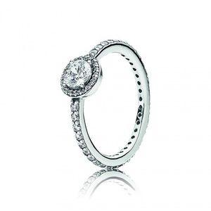 Classic Sparkle Halo Ring 50